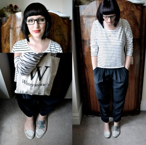 Breton top and trousers