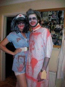 Zombie nurse and patient costume