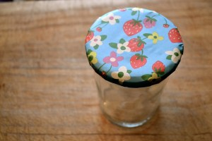covered jam jar tops