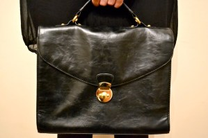 Black dress with black bag