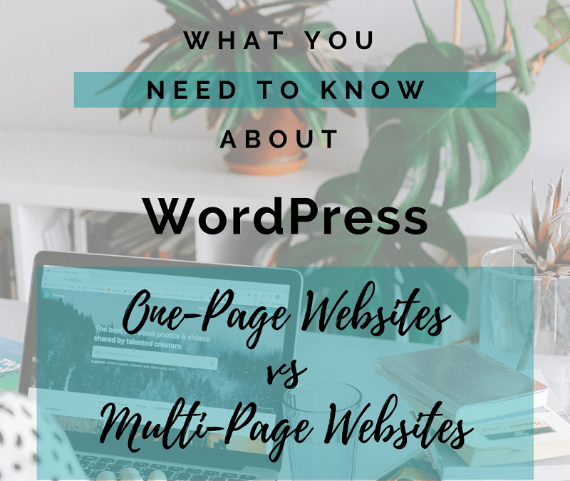 one page vs multi page blog
