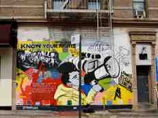 Street art marking and explaining rights for 'stop and search' laws in NYC
