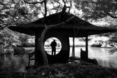 Reflection -- Happo-en garden.