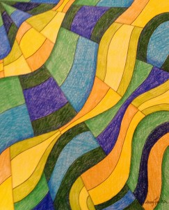 Sea and Sunbeams, 8x10 colored pencil and ink, 2013, $60