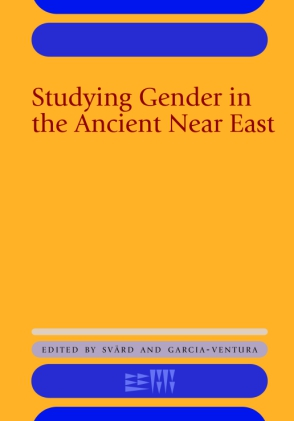 yellow book cover with title Studying Gender in the Ancient Near East