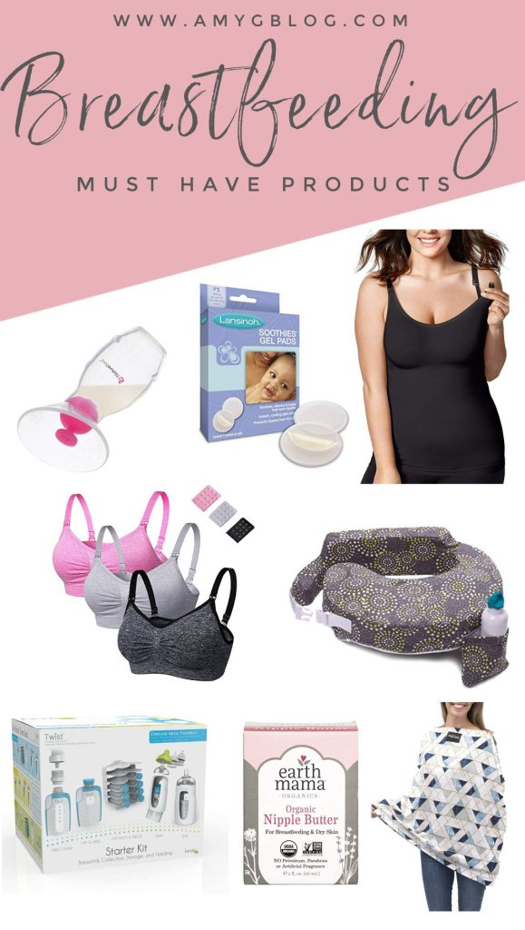 These breastfeeding products hit the top of my must have list! They helped me have two successful breastfeeding journeys and came recommended to me by a lactation consultant! #breastfeeding #normalizebreastfeeding #lactationconsultantrecommendations