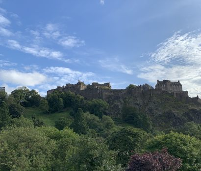 Edinburgh castle atop Castle Rock