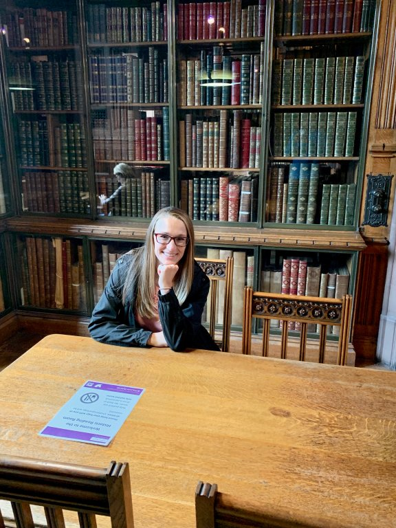 The John Rylands Library in Manchester, England is a must see when visiting the city. It's designed more like a museum than a library. It's architecture alone is worth walking around for a while. Here you can also see many collections including the oldest known piece of the New Testament!