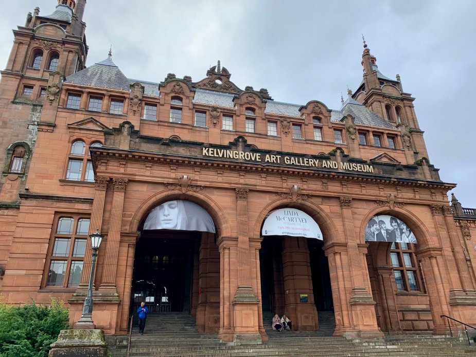 The Kelvingrove Art Gallery and Museum is a family friendly museum. There are many exhibits among its 3 stories including exhibits geared for children. This means fun and learning for the whole family. Our kids loved the animals and dinosaurs!
