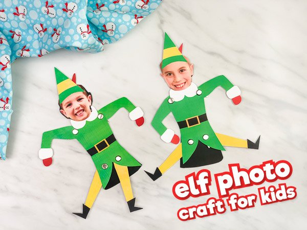 Elf photo craft ornaments for kids! DIY Christmas ornaments for young children.
