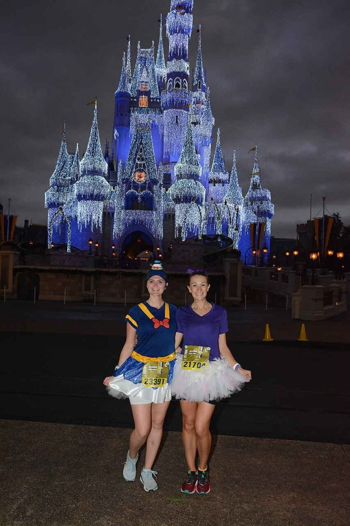 The best part of running during runDisney Marathon Weekend is getting photos with the winter castle! This is the only race you can!