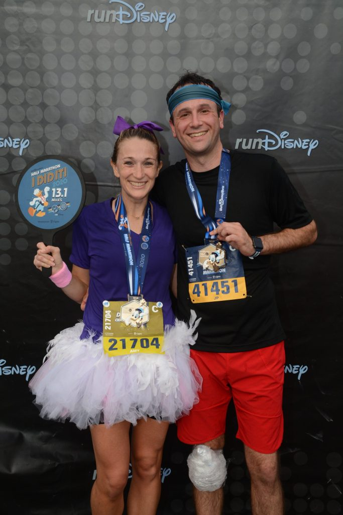 Walt Disney World half marathon finish