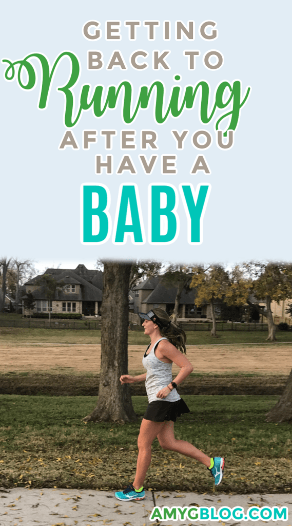 Getting back into running after having a baby is no joke. It's important to take it slow and listen to your body! Here are some tips from a two time mom and runner to running postpartum! #postpartumfitness #postpartumrunning #runningmom #motherrunner