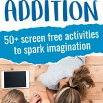 Feel like your kids have been staring at screens for too long? Take a look at these 50+ screen free activities that will help curb screen addiction and encourage imaginative play! #screenaddition #screenfreekids #screenfreeactivities