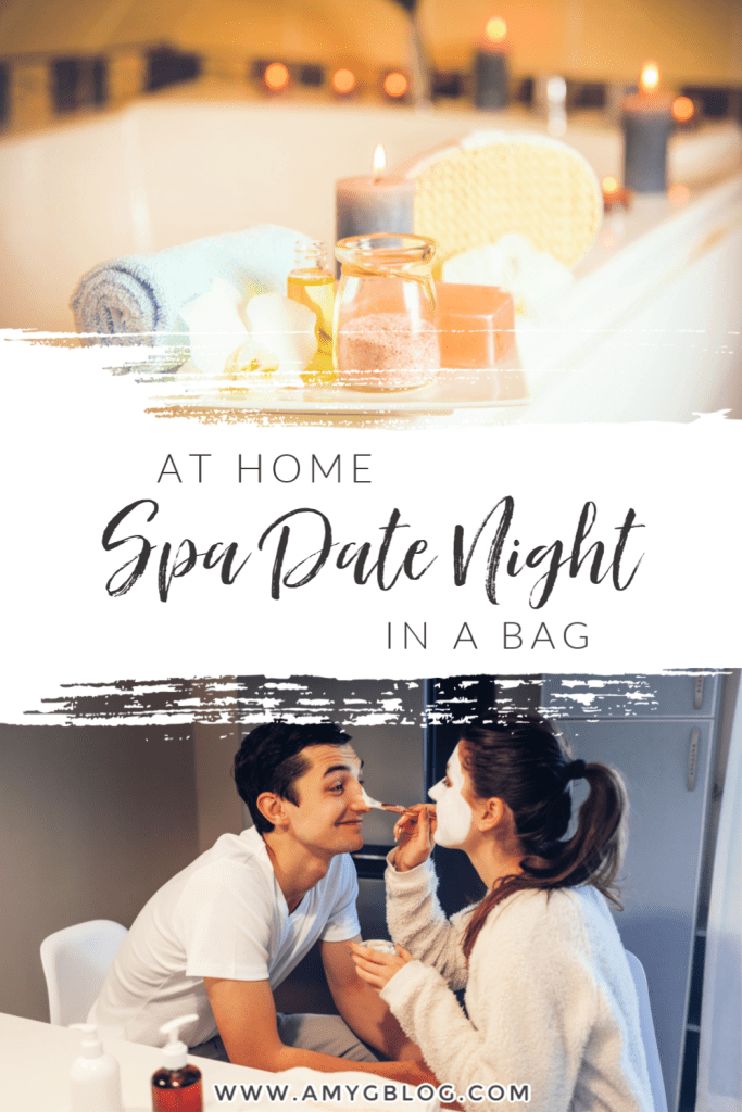 Check out everything you need to put together your own at home spa date night! With my free printables, you'll have access to a checklist, relationship questions and more to make sure you date night goes as smooth as possible. #athomedatenight #datenightbox #spadatenight #homespadate #homespaideas