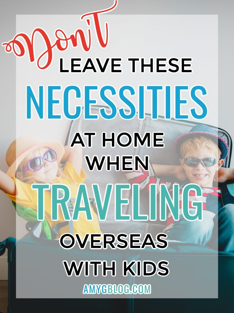These are the 12 items you can't leave home without when traveling overseas with a toddler! #travelwithkids #toddlertravel #travelingtoddler #havekidswilltravel #travelnecessities #thingtopackfortoddler