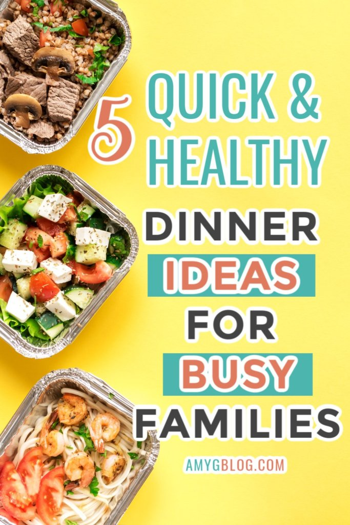 These dinner recipes are quick and easy, plus healthy for the whole family. So round the up ingredients and plan out your dinners for a week! #mealplanning #healthydinners #easydinnerrecipes #quickdinnerprep #slowcookermeals #onepanmeal #familydinners