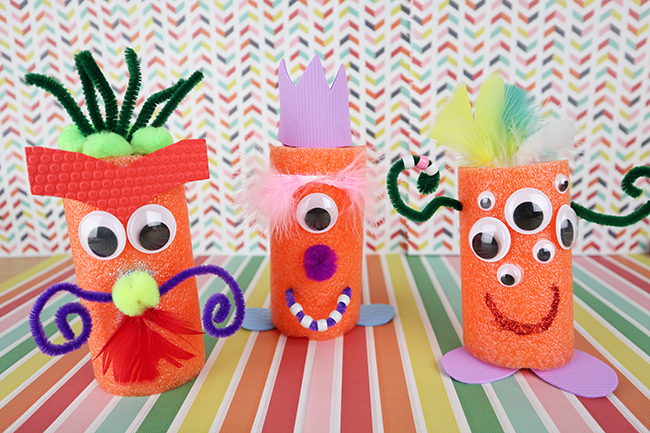 Pool Noodle Monsters - a summer craft for kids