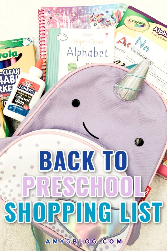 Everything you need to get for a great year at preschool! Check out this shopping list as well as ways to prepare your child for the school year ahead! #preschoolbound #preschoolshoppinglist #backtopreschool #preschool