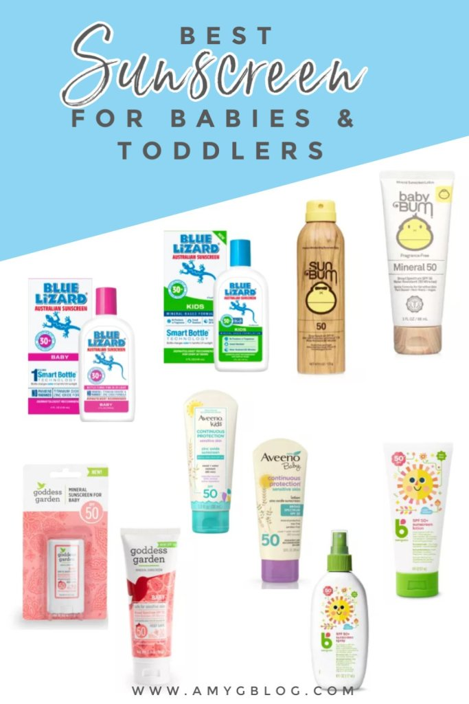 These are a few of the top sunscreens recommended for babies and toddlers. They're also great for pregnant mommas and sensitive skin! #bestsunscreen #organicsunscreen #sunscreenforkids