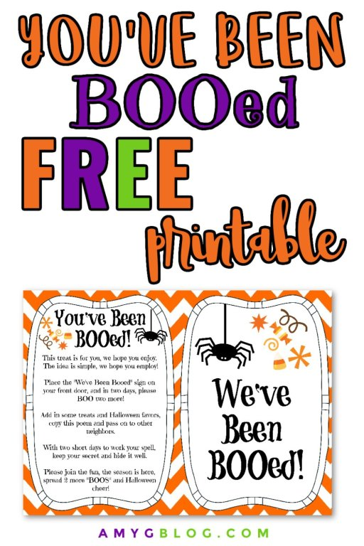 Get this free printable to BOO your neighbors this Halloween! #halloweenfun #halloweenideas #halloweenforkids