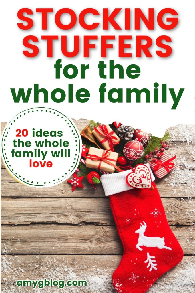 Age and gender neutral stocking stuffers that both kids and parents will enjoy! Take a look at all the fun stocking stuffer options you can get for your whole gang! #stockingstuffers #giftguide #familygifts