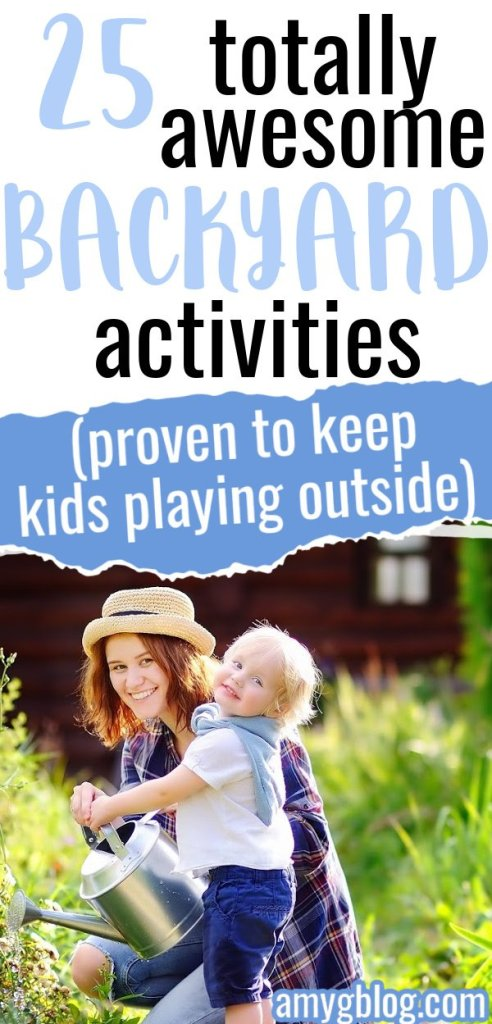 Check out these awesome ideas for backyard fun! #kidsactivities #outsideactivities #screenfree