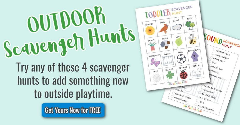 4 outdoor scavenger hunts for kids of all ages.
