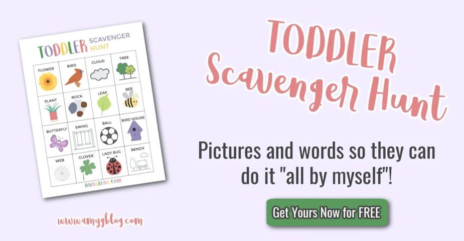 Toddler Scavenger Hunt