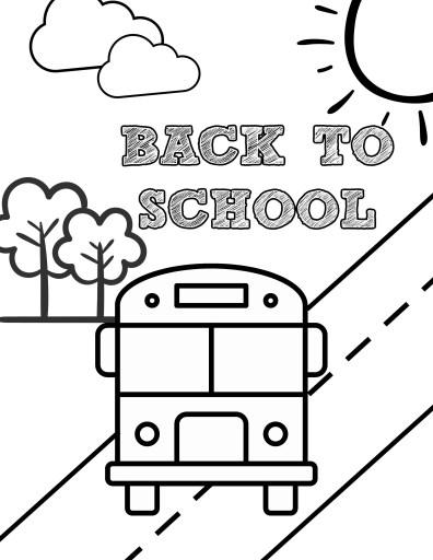 School Bus Back to School Coloring Page