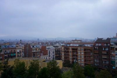 Barcelona views at dusk from Montjuïc