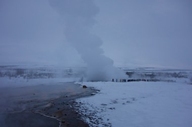 Geysir going off in the distance