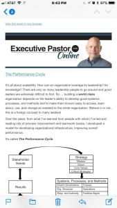 Mobile blog post email for a Ministry