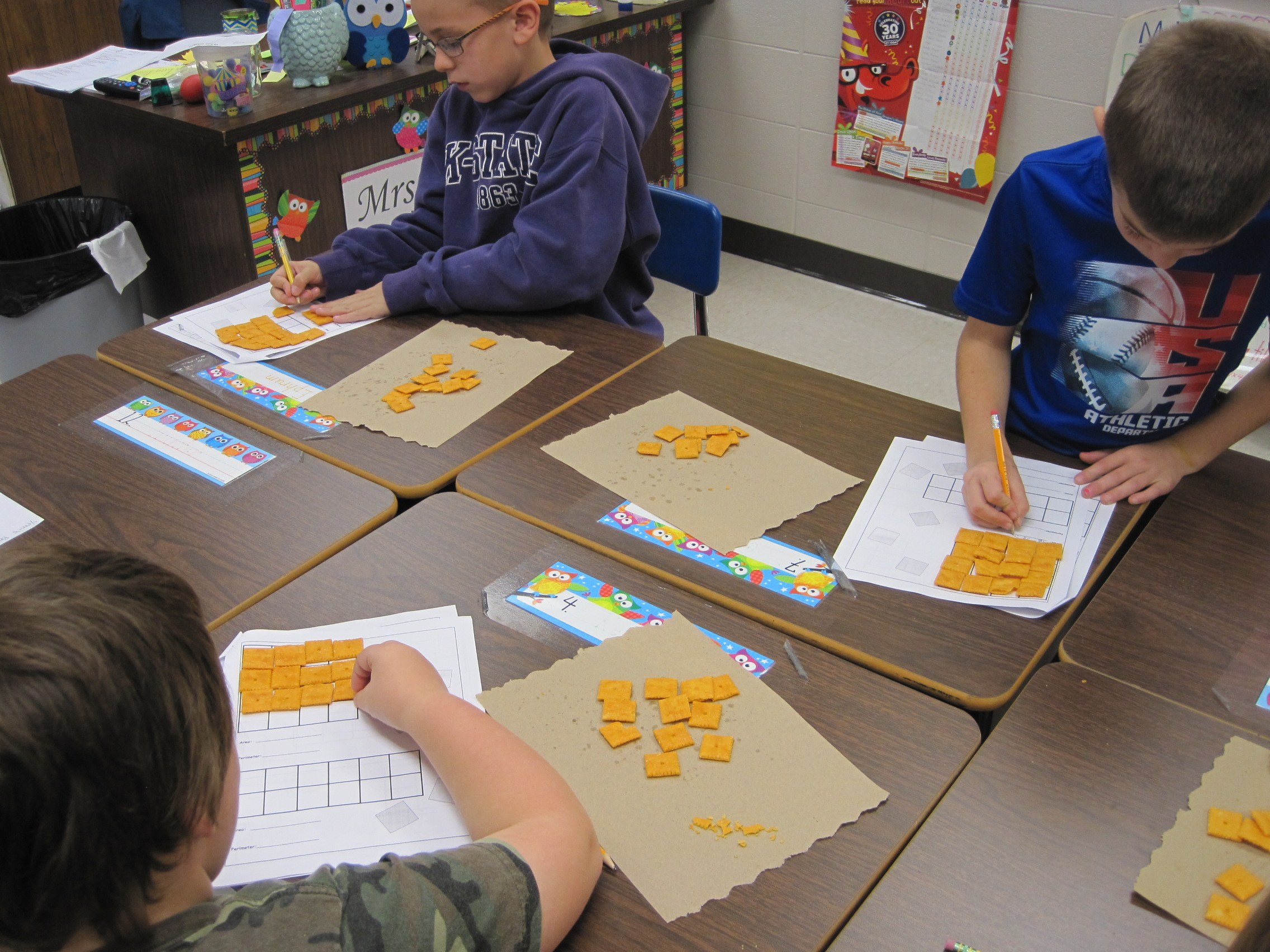Area And Perimeter With Cheez Its