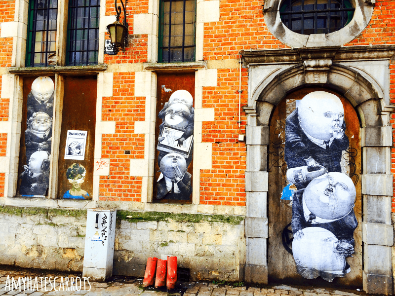 A photo gallery of cheery & colorful pop art in Brussels, Belgium along with some accidental travel tips that I hope bring a giggle to your day!