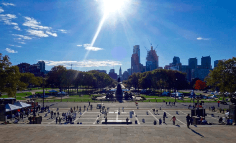 The Rocky Steps in Philly are a must do when visiting Pennsylvania