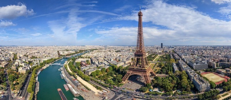 Aerial View of the Eiffel Tower | Courtesy of airpano.com