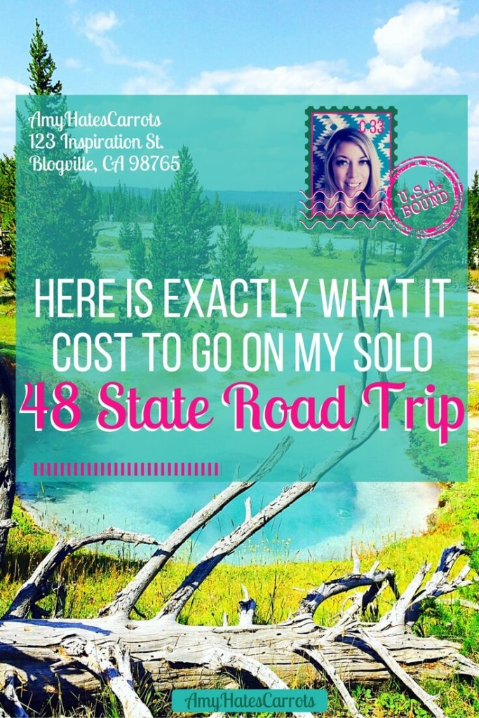 Here is exactly what it cost to go on my solo 48 State road trip across America