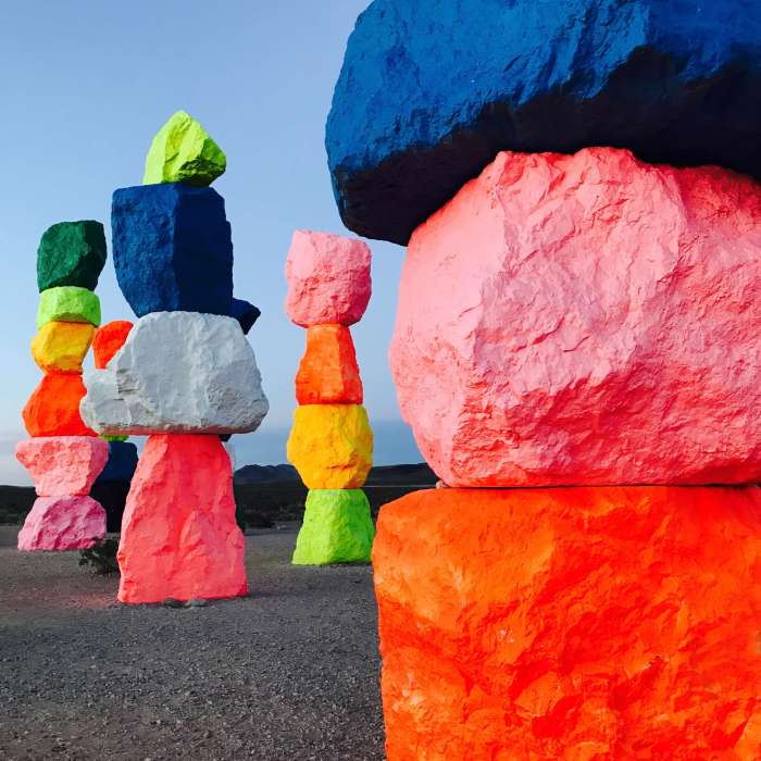 The Seven Magic Mountains are a must see detour on your drive to Las Vegas, look at how cute they are!! :D
