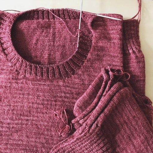 I didn't quite finish my KAL sweater.