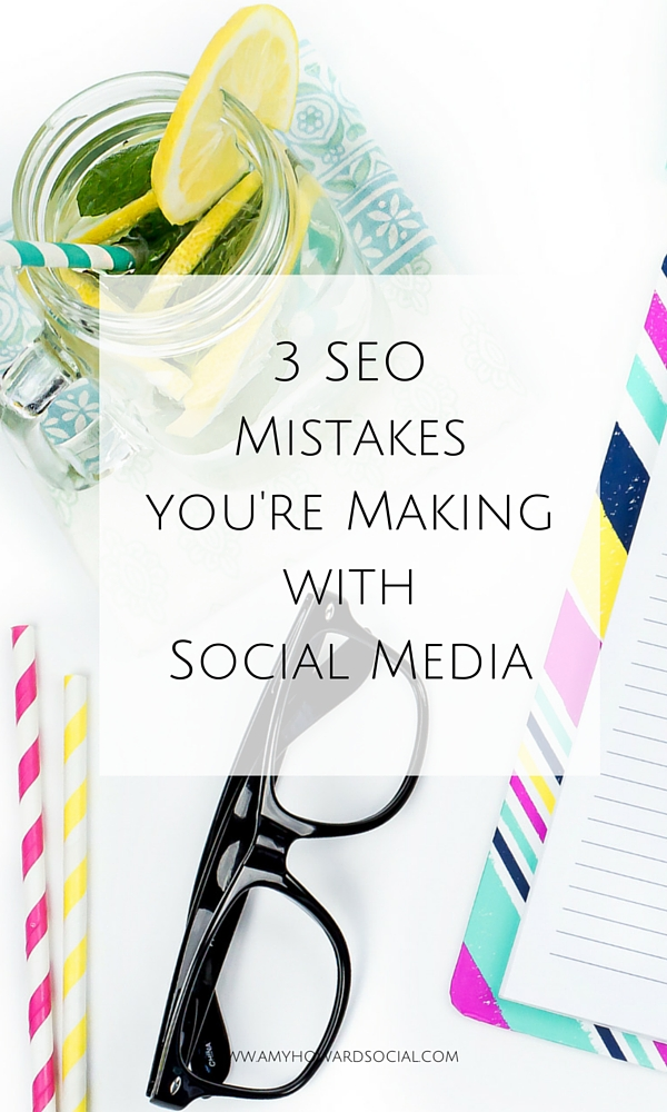 Did you know that social media can have a big impact on your SEO? There are three SEO mistakes you're making with social media and here is how to fix them!