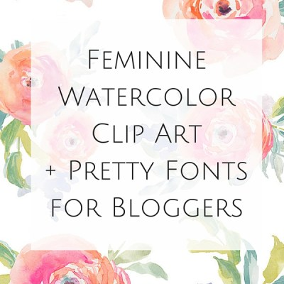 Love watercolor clip art, pretty fonts, and premade logos? Take a look at my resource for Feminine Watercolor Clip Art + Pretty Fonts for Bloggers.