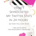 How I Skyrocketed My Twitter Stats in 24 Hours (& How you Can too)