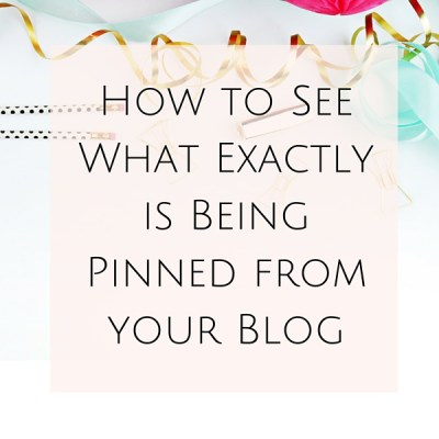 Did you know that you can see what exactly is being pinned from your website? Read on to discover how to see what exactly is being pinned from your site!