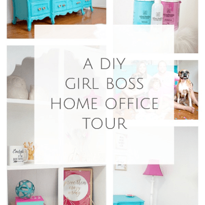 A DIY Girl Boss Home Office Tour