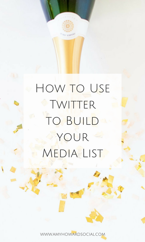 Want to build your media list? Twitter is a great place to find social media contacts, to build relationships, and connect with potential collaborations!