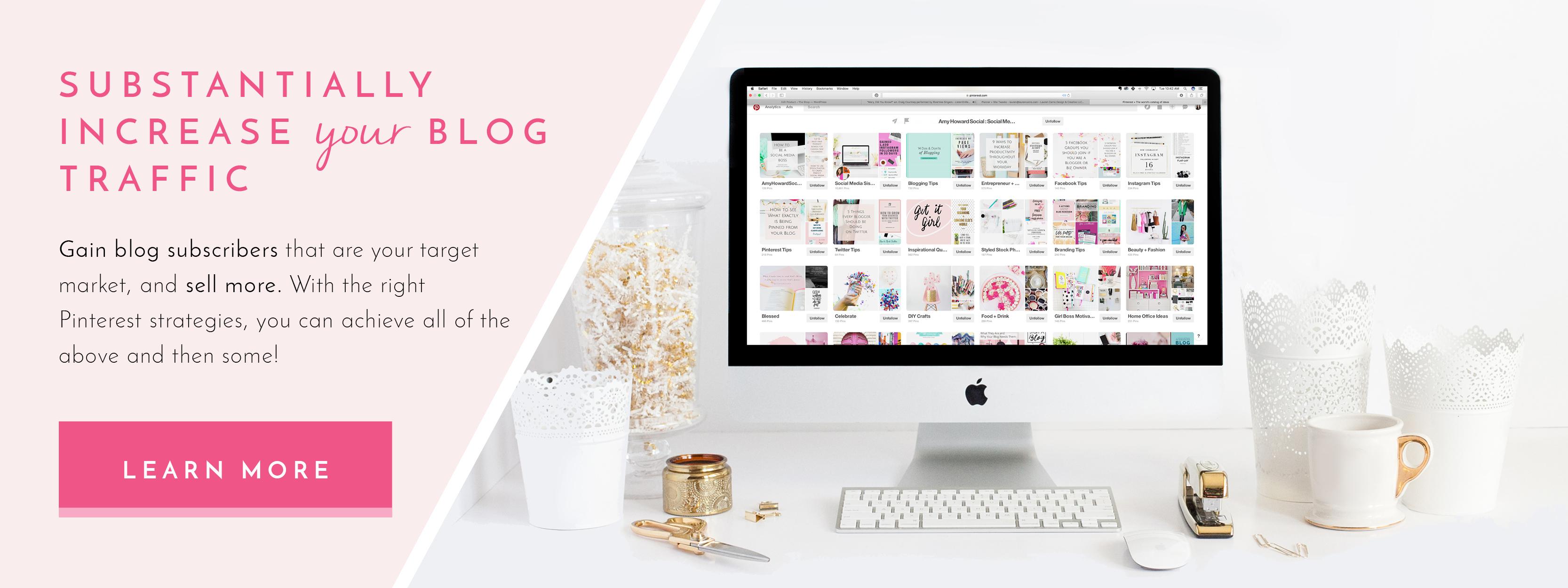 Pinterest Services - Amy Howard Social