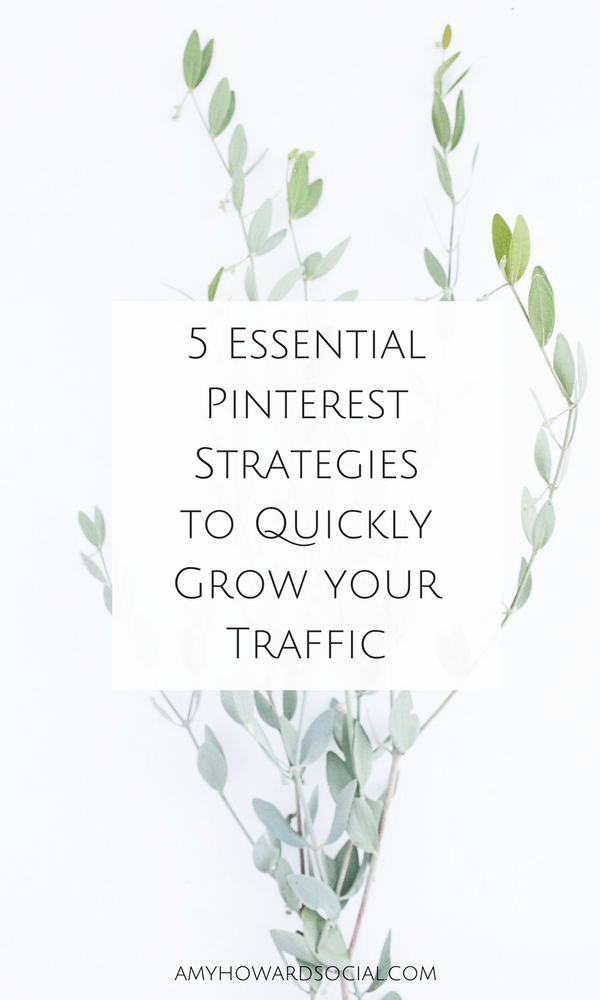 Want to grow your traffic using Pinterest? Here are 5 Essential Pinterest Strategies to Quickly Grow your Traffic on Autopilot! (there's a free Pinterest eBook too!)