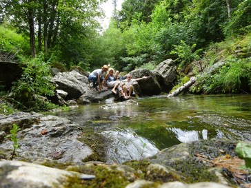 Enjoying eau de source at La Brigue