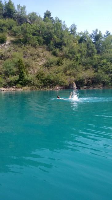 Lac de Castillon: a huge expanse of deep, clear water